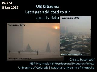 UB Citizens:  Let's get addicted to air quality data