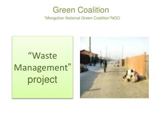 "Green Coalition   "" Mongolian National Green Coalition "" NGO"