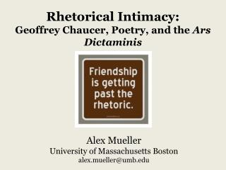 Alex  Mueller University  of Massachusetts  Boston alex.mueller@umb.edu