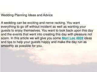 Wedding Planning Ideas and Advice