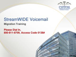 StreamWIDE  Voicemail