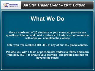 All Star Trader Event – 2011 Edition