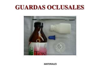 GUARDAS OCLUSALES