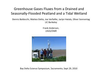 Greenhouse Gases Fluxes from a Drained and Seasonally-Flooded  Peatland  and a Tidal Wetland