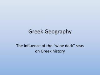 Greek Geography