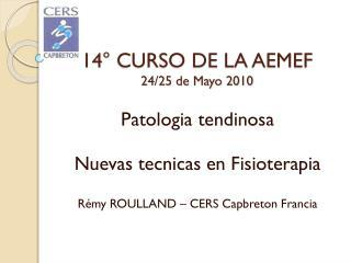 14° CURSO DE LA AEMEF 24/25 de Mayo 2010
