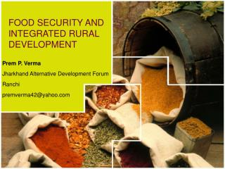 FOOD SECURITY AND INTEGRATED RURAL DEVELOPMENT