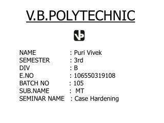 V.B.POLYTECHNIC