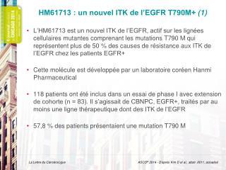 HM61713  : un nouvel ITK de l'EGFR  T790M+  (1)