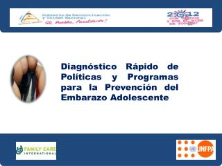 Diagnóstico Rápido  de   Políticas  y  Programas  para la  Prevención  del  Embarazo  Adolescente