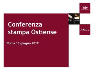 Conferenza stampa Ostiense
