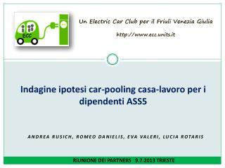Indagine ipotesi car- pooling  casa-lavoro per i dipendenti  ASS5