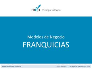 Modelos de Negocio FRANQUICIAS