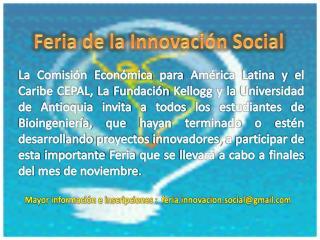 Feria de la Innovación Social