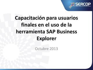 Capacitación  para usuarios finales en el uso de la herramienta  SAP Business Explorer