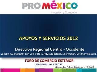 APOYOS Y SERVICIOS 2012