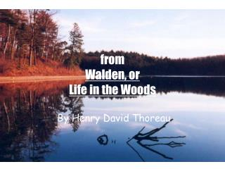 from  Walden, or  Life in the Woods