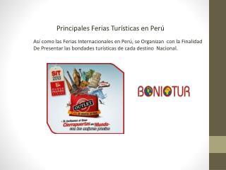 Principales Ferias Turísticas en Perú