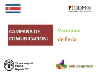 CAMPAÑA DE   COMUNICACIÓN :