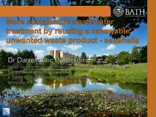 More sustainable  wastewater treatment by reusing a renewable unwanted waste product - seashells