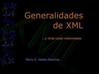 Generalidades de XML