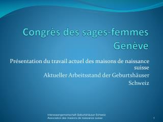 Congrès des sages-femmes G enève