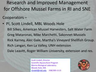 Research and Improved Management for Offshore Mussel Farms in RI and SNE