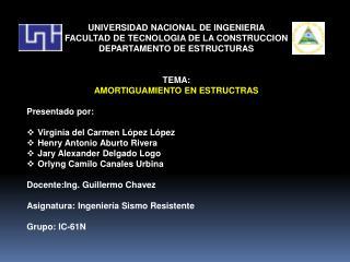 UNIVERSIDAD NACIONAL DE INGENIERIA FACULTAD DE TECNOLOGIA DE LA CONSTRUCCION