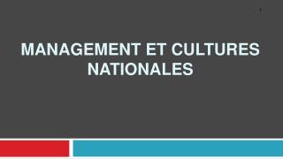 Management et cultures nationales