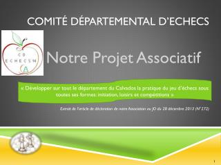 Comit� D�partemental D�ECHECS