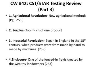 CW #42: CST/STAR Testing Review (Part 3)