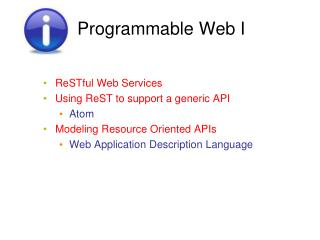 Programmable Web  I