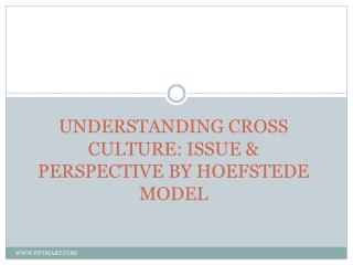 UNDERSTANDING CROSS CULTURE: ISSUE & PERSPECTIVE BY HOEFSTEDE MODEL