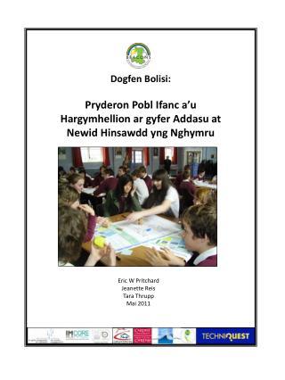 Dogfen Bolisi: Pryderon Pobl Ifanc a'u Hargymhellion ar gyfer Addasu at Newid Hinsawdd yng Nghymru