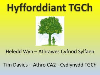 Heledd Wyn  –  Athrawes Cyfnod Sylfaen Tim Davies –  Athro  CA2 -  Cydlynydd TGCh