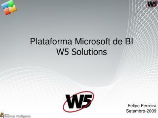Plataforma Microsoft de BI W5 Solutions