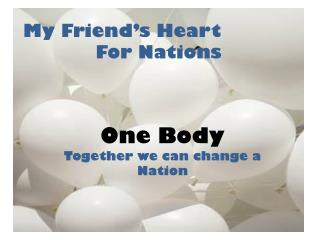 My Friend's Heart For Nations