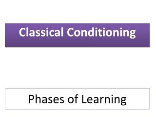 Phases of  L earning