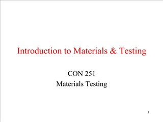 Introduction to Materials  Testing