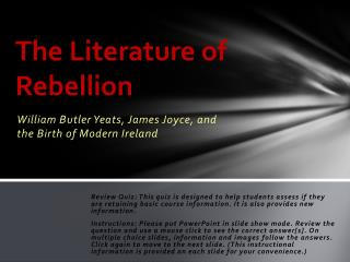 The Literature of Rebellion