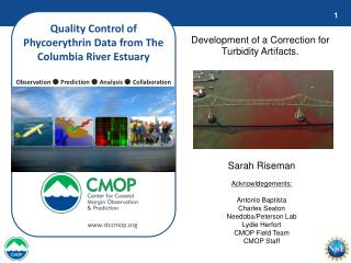 Quality Control of Phycoerythrin Data from The Columbia River Estuary