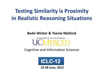 Testing Similarity is Proximity in Realistic Reasoning Situations