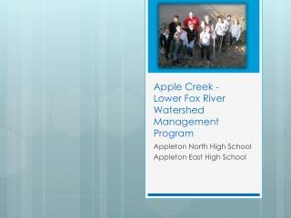Apple Creek - Lower Fox River Watershed Management Program