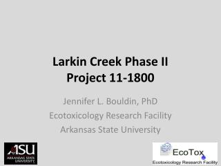 Larkin Creek Phase II Project  11-1800