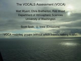 The VOCALS Assessment (VOCA)