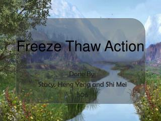 Freeze Thaw Action