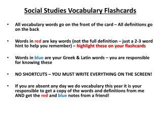 Social Studies Vocabulary Flashcards