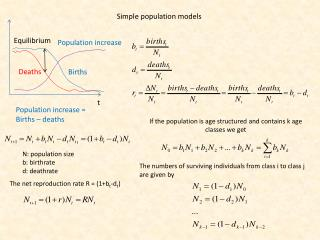 Simple  population models