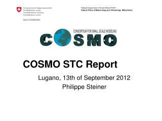 COSMO STC Report