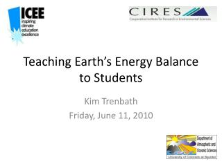 Teaching Earth's Energy Balance to Students